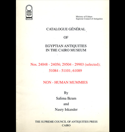 Catalogue Général of Egyptian Antiquities in the Cairo Museum